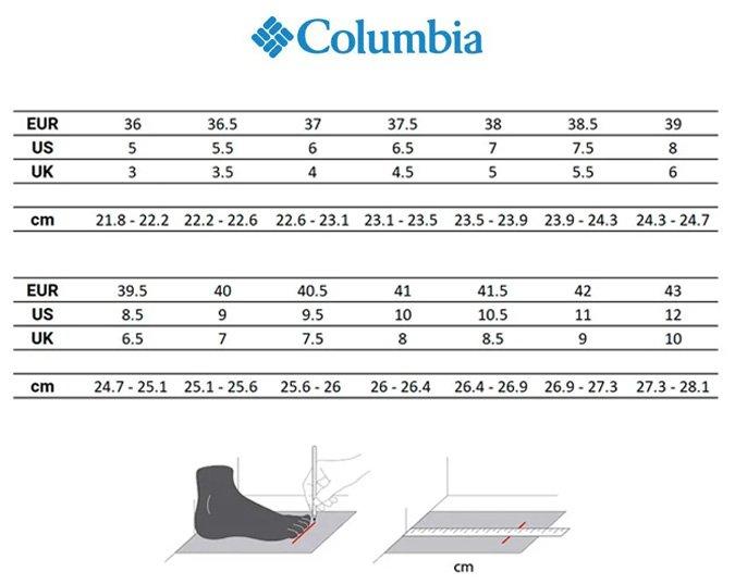guia-tallas-columbia-calzado-mujer