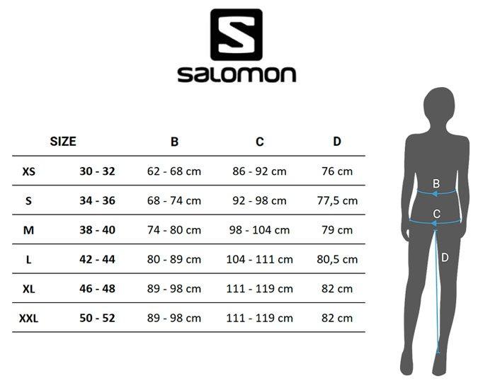Guia De Tallas Salomon Para Hombre Mujer Y Nino Trekkingtop
