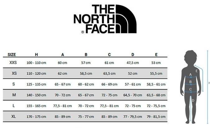 tallas-the-north-face-ropa-ninos
